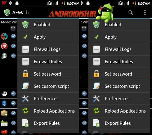 دانلود برنامه فایروال اندروید AFWall+ (Donate) 1.2.4.1