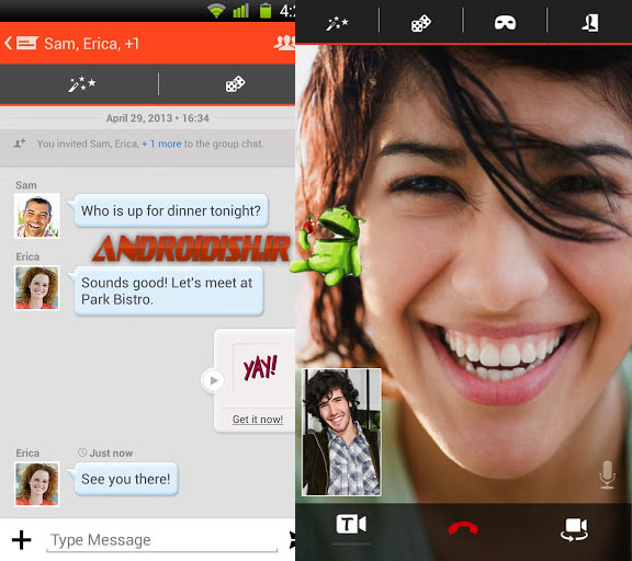 دانلود برنامه چت تانگو Tango Text, Voice, Video Calls 2.8.43942