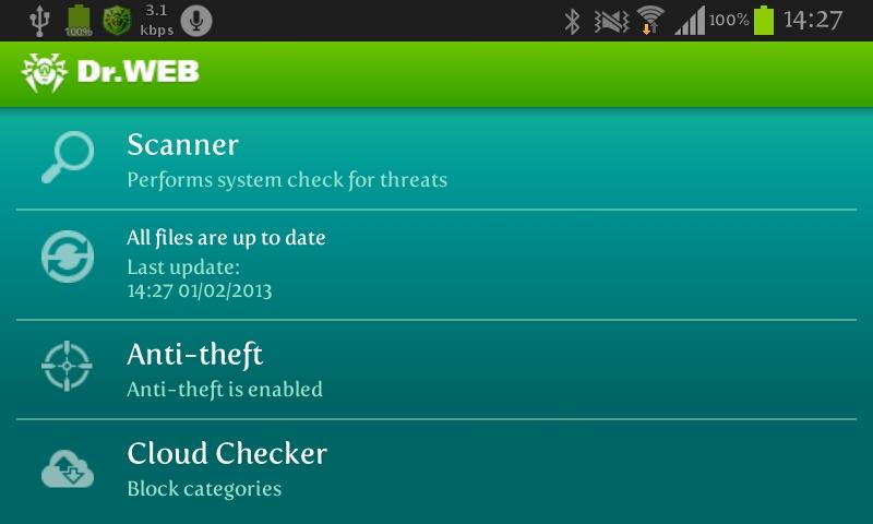 دانلود بهترین ویروس کش اندروید   Dr.Web lifetime licence v 7.00.3