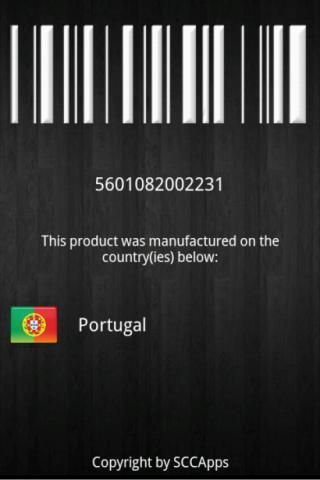 دانلود برنامه بارکد خوان اندروید  Barcode Country Scan v1.1.3
