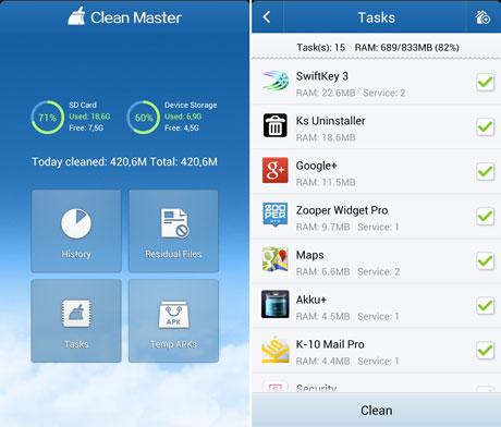دانلود برنامه clean master 2.4.1.9 اندروید